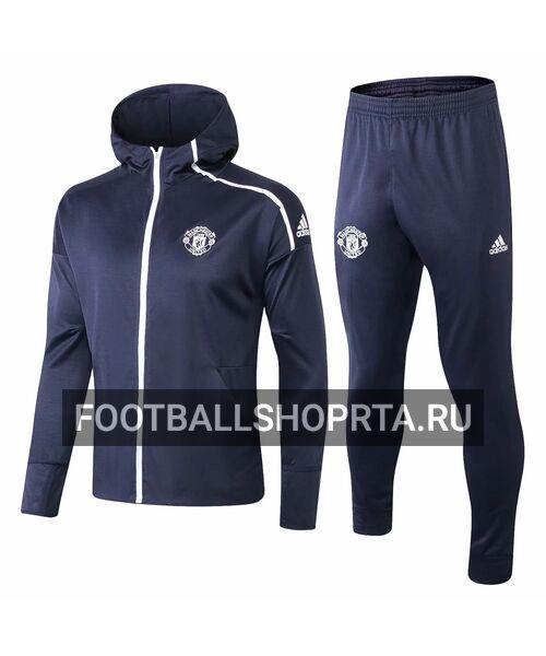 Спортивный костюм Манчестер Юнайтед с капюшоном - 2018/19
