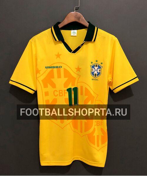Сборная Бразилия ретро футболка 1994