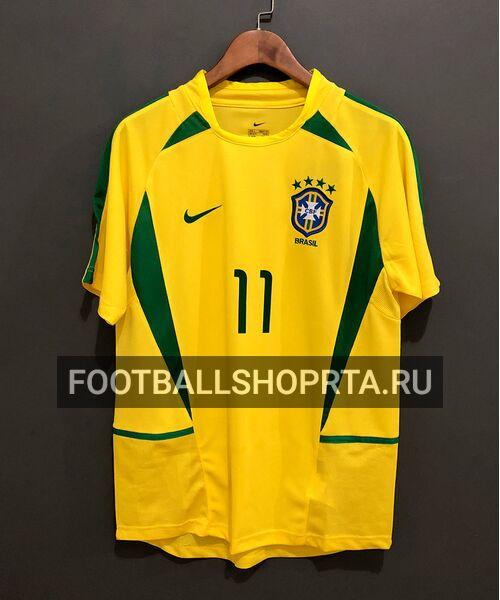 Сборная Бразилия ретро футболка 2002