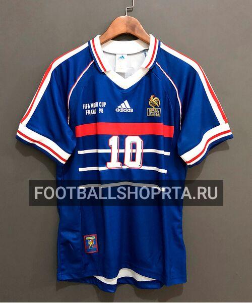 Сборная Франции ретро футболка 1998