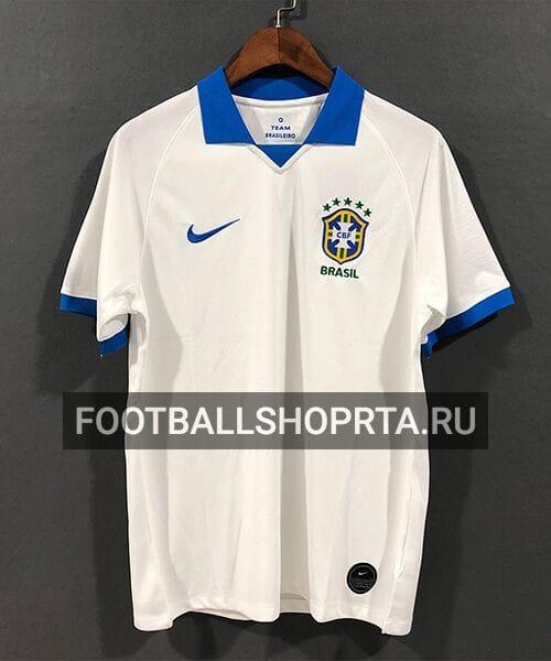 Футболка сборной Бразилии гостевая - 2019