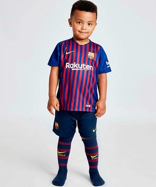 Детская форма Барселоны домашняя - 2018/19