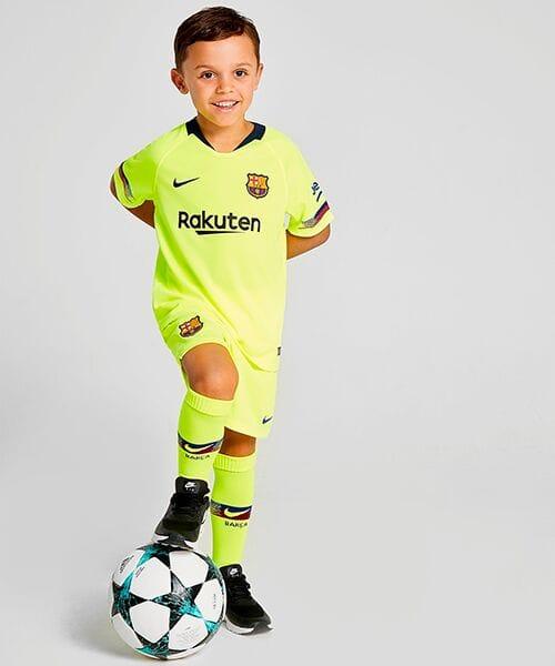 Детская форма Барселоны гостевая - 2018/19
