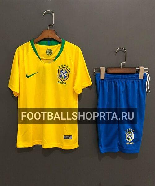 Детская форма сборной Бразилии домашняя - 2018