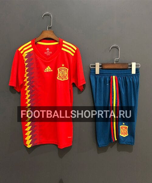Детская форма сборной Испании домашняя - 2018