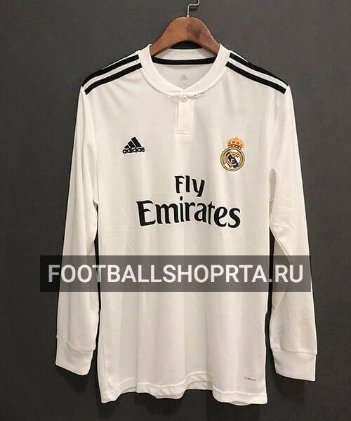 Футболка Реал Мадрид домашняя с длинным рукавом - 2018/19