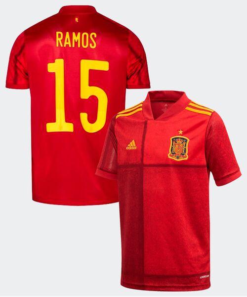 Футболка Испании РАМОС 15 - домашняя